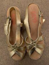 MICHAEL KORS  Gold Metallic Espadrilles Wedge Sandals Size 9.5