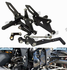 Adjustable Rearsets Foot Pegs Kit Black Fit 2013-2016 TRIUMPH Daytona 675 R 675R