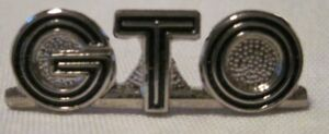 HAT PIN GTO LETTER  OFFICIAL GM LICENSED