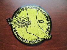 PENNY ORIGINAL SKATEBOARD Sticker ~ Achilles Heel ~ YELLOW 3 1/2 x 4in Decal