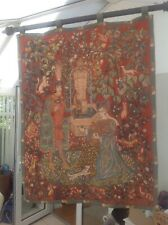 "The Romance of the Rose - hand Loomed by  Anne-Roland Aknin Tapestry 48"" x 36"""