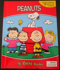 *PEANUTS My Busy Books BOARD BOOK w/ 12 FIGURES & PLAYMAT Snoopy CHARLIE BROWN!*