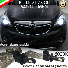KIT FULL LED OPEL MOKKA LAMPADE LED H7 6000K BIANCO GHIACCIO NO ERROR