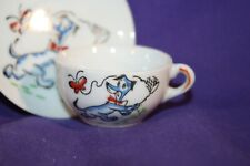 Cup & Saucer HUCKLEBERRY HOUND Porcelain child's JAPAN miniature tea coffee
