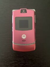 Motorola Razr V3 Cingular Pink Cellular Phone Flip Cell Phone (Sold As Is)
