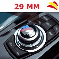 EMBLEMA INSIGNIA LOGO BMW ///M TECH 3D ADHESIVO 29 MM BOTON MULTIMEDIA INTERIOR