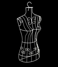Wire Metal White Female Torso Hanging Mannequin, Metal Dress Form With Hanger