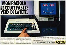 Publicité Advertising 1984 (2 pages) Le Micro-Ordinateur VG 5000 Radiola