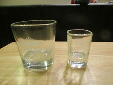 Jack Daniels Square Lowball Glass with shot glass NEW