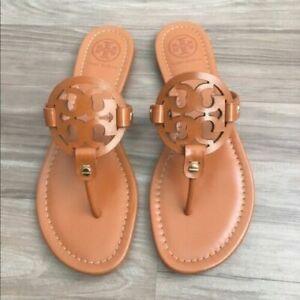 Tory Burch Miller Leather Flip Flop Multiple Sizes Vintage Vachetta