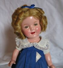 "Cute 13"" composition Shirley Temple w/original clothes and wig"