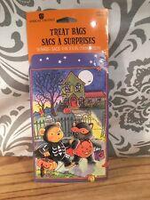 1980's American Greetings 18 Ct.-Halloween Bear Paper Treat Bags-Beth Boso-Rare
