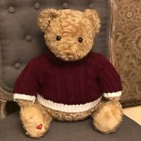 "BLOOMINGDALES Limited Ed GUND 18"" Teddy LITTLE BROWN BEAR Stuffed Plush SWEATER"