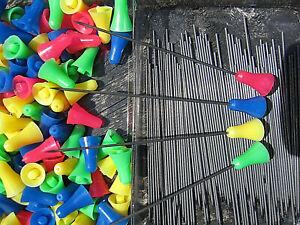 100 Blasrohr Pfeile Stahl Darts Stahlpfeile Ersatzpfeile Nadelpfeile 10mm