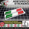 Adhesivo Adhesivos Etiqueta Engomada 3d Italy Italia Flag Bandera Coche Moto 2pz