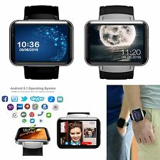 "2.2"" HD WiFi Bluetooth 4.0 Smart Watch SIM GPS Camera Skype For Android Samsung"