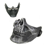 Skull Skeleton Airsoft Paintball Half Face Protect Mask For Halloween CT J8I6