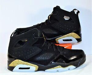 Nike Air Jordan Fight Club 91 Black Gold Basketball Shoes Sz 9.5 NEW 555475 031