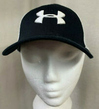 Under Armour Embroidered Logo Black White Hockey Trucker Hat Youth Size OSFA