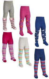 Tick Tock Baby Girls Cotton Rich Design Tights