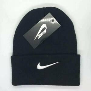 Nike Beanie Cap Hat Black White One Size Women Men Brand New Adjustable ON SALE