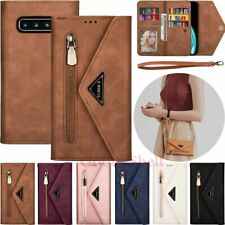 For Samsung S20 FE S10 S9 S8 A51 A71 Note9 Zipper Wallet Flip Leather Case Cover