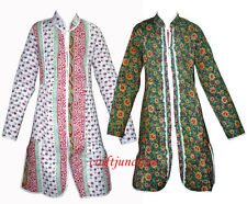 Indian cotton Quilted Reversible Kantha Blazer Women Ethnic Long Jacket Overcoat
