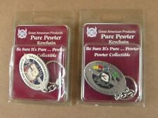 Great American Products Pure Pewter Dale Earnhardt Sr & Jr Key Chain Nascar