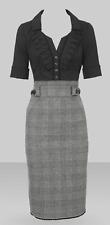 Karen Millen Grey Tweed Shirt Dress UK 12