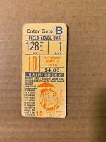 1972 NY Mets vs San Diego Padres Baseball Ticket Stub Kranepool Home Run GD Cond