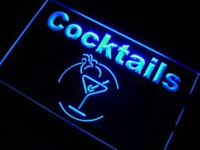 j991-b Cocktails Bar Beer Wine Neon Light Sign
