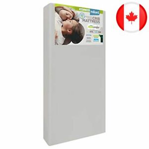 Milliard Crib Mattress, Dual Comfort System, Firm Side For Baby and Soft Side Fo