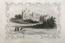 1846 Antique Print; Dulwich College, London