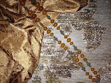 """Beautiful Vintage and Naturally Sweet Golden Amber Necklace """"woven Brass links"""""""