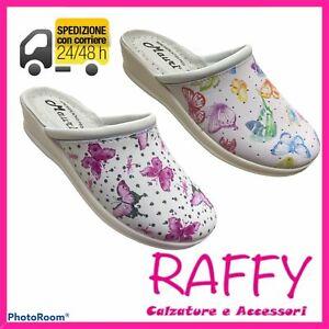 Pantofole Donna - Ciabatte Chiuse Sabot Sanitarie Da Lavoro Made In Italy MAURI