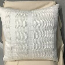 "Hotel Collection Colonnade Cotton 20"" Square Decorative Pillow WHITE $120"
