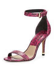 Michael Kors Collection Suri Snakeskin Sandal, Geranium EU40 MSRP $375