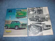 "1974 Chevy C10 Stepside Pickup Vintage Article ""Jr's Truck"" C/10"