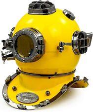 Mark V US Navy Antique Diving Divers Helmet Brass Steel Full Size Maritime Diver
