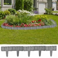 vidaXL 41x Lawn Border Stone Look Garden Outdoor Fence Edge Barriers Hardware