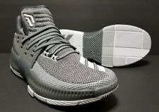 huge selection of b73e9 2cebd Mens Adidas Dame 3 GreyWhite Damian Lillard 3 Basketball Shoe BY3193 Size  11
