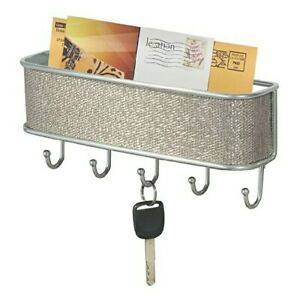 Mail and Key Rack Wall Mount Letter Holder Entryway Organizer Hook Storage Decor