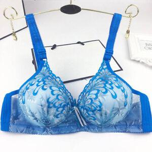 Small Cup Women Bras 30-40 AA A Wireless Bra Floral Underwear Lingerie Bralette