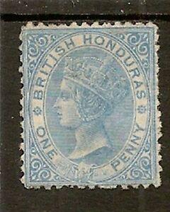 BRITISH HONDURAS 1872-79 P12½ 1d PALE BLUE SG5