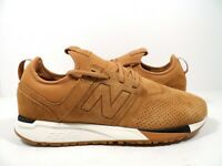 New Balance Men's MRL247WT Suede Lace up Sneaker Tan/White Size 9.5
