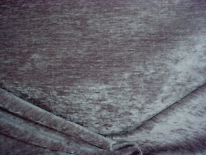 8-7/8Y KRAVET SMART 35392 SILVERY GRAY CHENILLE DRAPERY UPHOLSTERY FABRIC