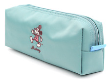 Disney Mickey Mouse Simple Pencil Case Mint Zippered Pouch School Cosmetic Bag