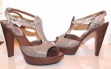 BOTTEGA VENETA Women's  Sandals LEATHER Taupe Woven Size 38.5 EUR