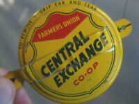 Vintage CO-OP Farmers Union CENTRAL EXCHANGE Oil Can Cap - NICE !!