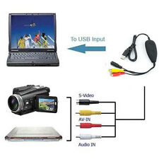 USB Analog Audio Video Capture Converter, TV DVD Game Player Camera to PC,Win 10